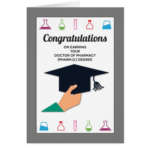 Pharmacy School Graduation Congratulations Card