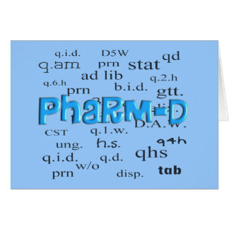 Pharmacy Student Pharm-D Gifts Card