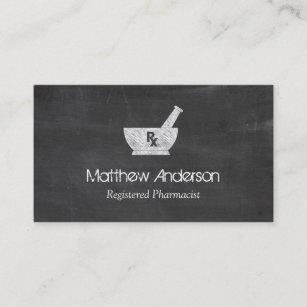 Pharmacy business cards zazzle uk pharmacy symbol mortar and pestle chalkboard business card colourmoves