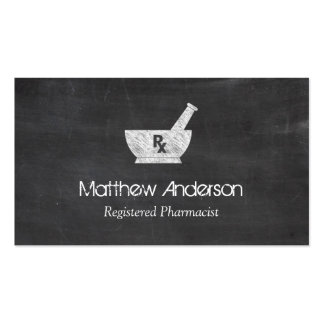 Pharmacy Symbol Mortar and Pestle - Chalkboard Pack Of Standard Business Cards