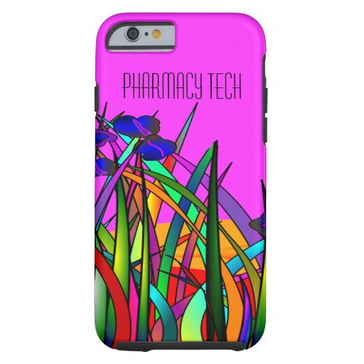 Pharmacy Tech iPhone 6 case Whimsical Flowers 2