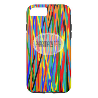 Pharmacy Tech iPhone 7 case Colorful Abstract