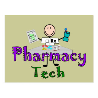 Pharmacy Tech Stick People Design Gifts Postcard