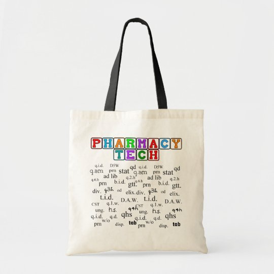 Pharmacy Tech Tote With Rx Abbreviations