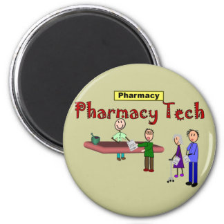 Pharmacy Tech With Customers Design Magnet