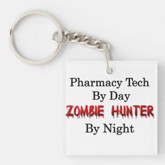 Pharmacy Tech/Zombie Hunter Single-Sided Square Acrylic Key Ring