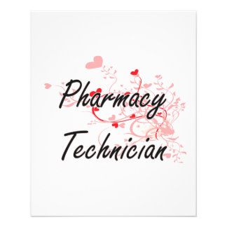 Pharmacy Technician Artistic Job Design with Heart 11.5 Cm X 14 Cm Flyer