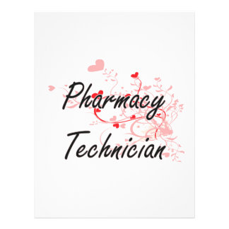 Pharmacy Technician Artistic Job Design with Heart 21.5 Cm X 28 Cm Flyer