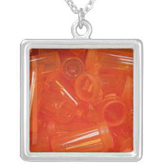 Pharmacy tools, pills, medication 2 silver plated necklace