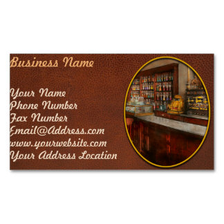 Pharmacy - W.B. Danforth Drugs 1895 Magnetic Business Cards