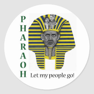 Pharoah of Healthcare Classic Round Sticker