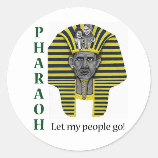 Pharoah of Healthcare Round Stickers