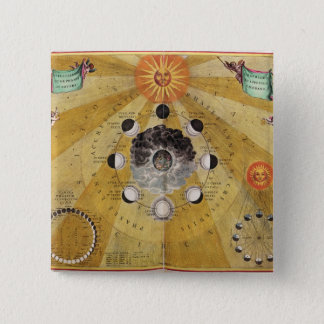 Phases of the Moon, from 'The Celestial Atlas 15 Cm Square Badge