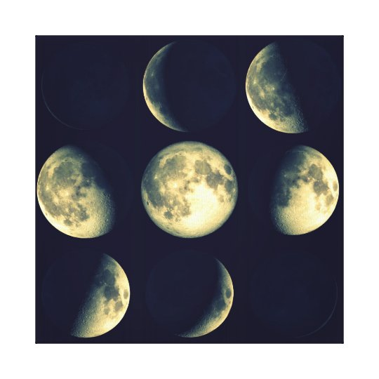 Phases of The Moon ~ Lunar Cycle Canvas