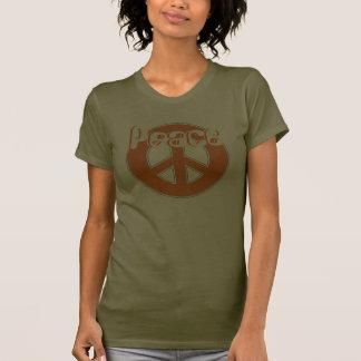 Phat Orange Brown White Retro 60's Peace T-shirt