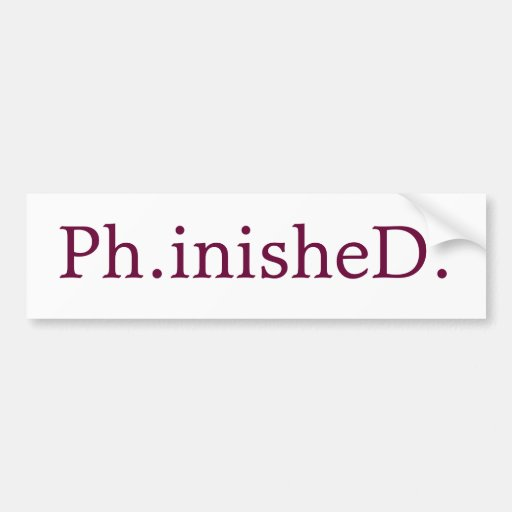PhD Bumper Sticker