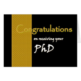 PhD Congratulations Custom Name Greeting Card