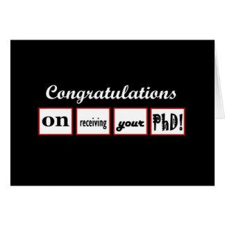 PhD Degree - CUSTOM NAME Congratulations - Greeting Card