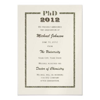 PhD Doctoral Graduation Announcement Metallic
