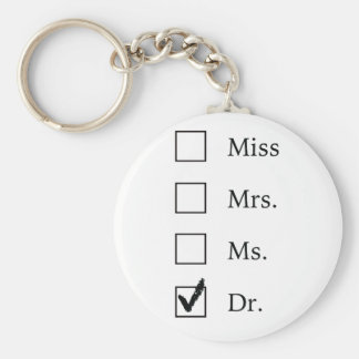 PhD gifts for women Basic Round Button Key Ring