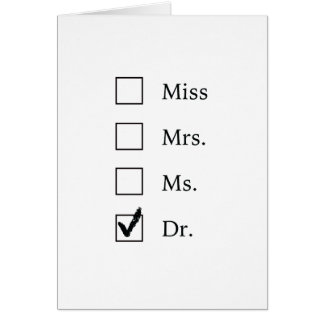 PhD gifts for women Card