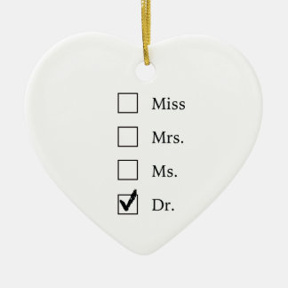 PhD gifts for women Ceramic Heart Decoration