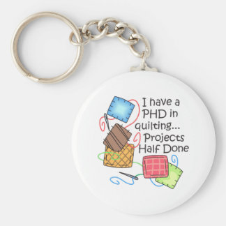 PHD In Quilting Key Ring