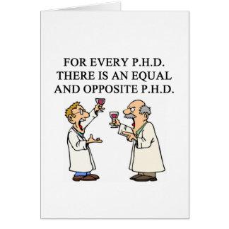 PHD proverb Card