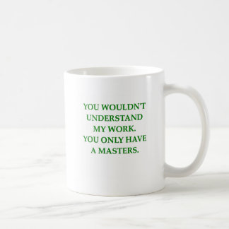 phd research coffee mug