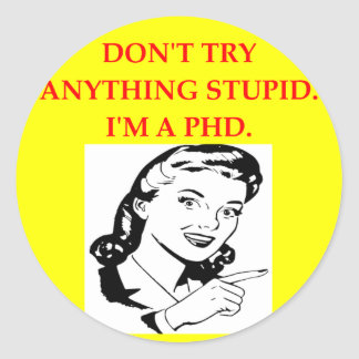 PHD ROUND STICKER