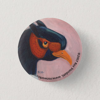 Pheasant 3 Cm Round Badge