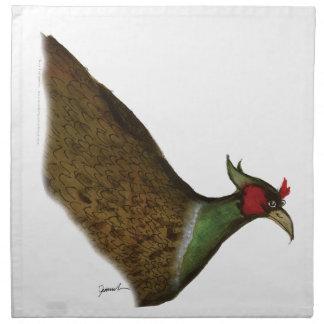 pheasant bird, tony fernandes napkin