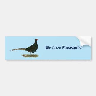 Pheasant Black Rooster Car Bumper Sticker
