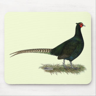 Pheasant Black Rooster Mousepads
