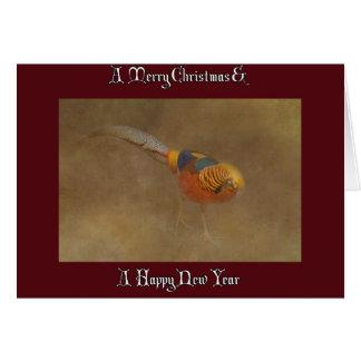PHEASANT CHRISTMAS CARD