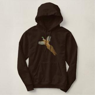 Pheasant Embroidered Hoodie