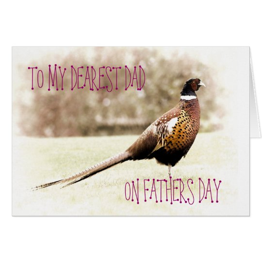 PHEASANT FATHERS DAY GREETING CARD
