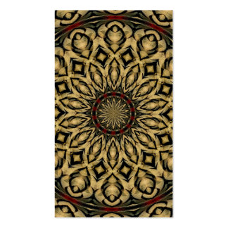 Pheasant Feathers Kaleidoscope Business Card