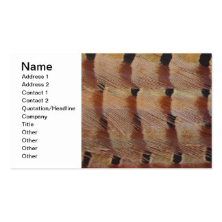 Pheasant Feathers Pack Of Standard Business Cards