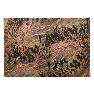 Pheasant feathers placemat
