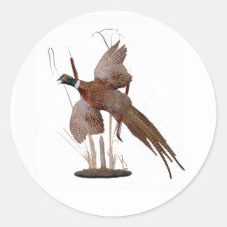 Pheasant Mount Round Sticker