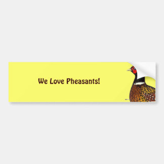 Pheasant:  Ringneck Head Bumper Sticker
