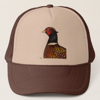 Pheasant:  Ringneck Head Trucker Hat