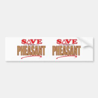 Pheasant Save Bumper Sticker