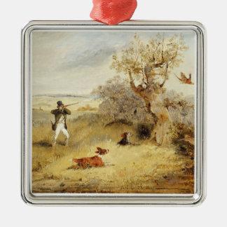 Pheasant Shooting (oil on canvas) 2 Christmas Ornament