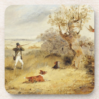 Pheasant Shooting oil on canvas 2 Beverage Coasters