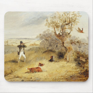 Pheasant Shooting (oil on canvas) 2 Mouse Pad