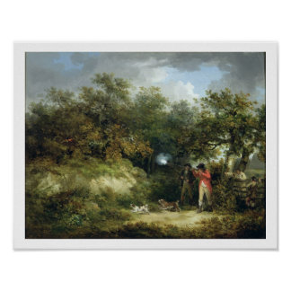 Pheasant Shooting (oil on canvas) 2 Poster