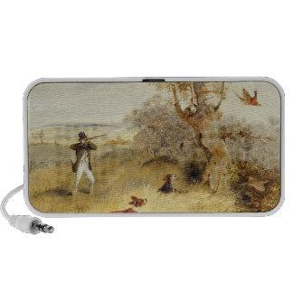 Pheasant Shooting (oil on canvas) 2 iPhone Speakers