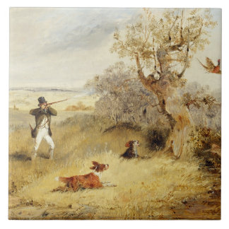 Pheasant Shooting (oil on canvas) 2 Tile